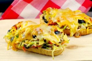 Mexican Tuna Melts Recipe | #tunamelts - Foodmeanderings.com