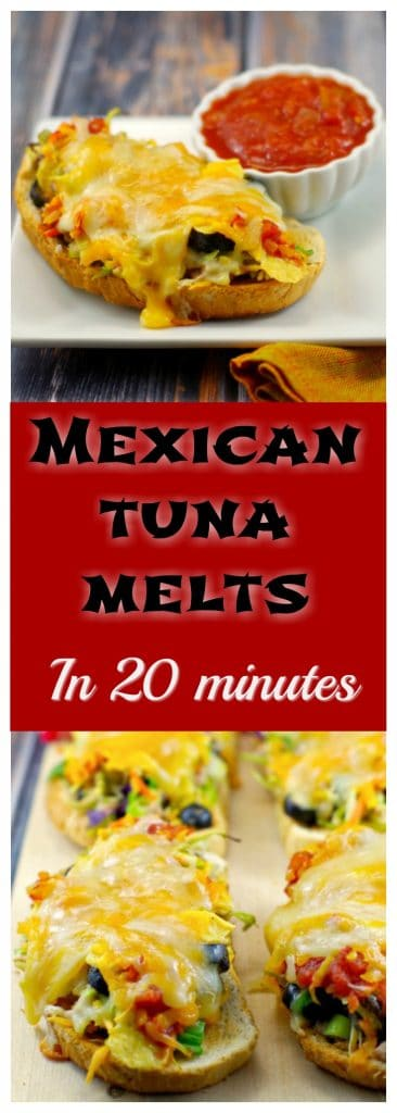 Mexican Tuna Melts | #tuna melts #canned tuna - Foodmeanderings.com