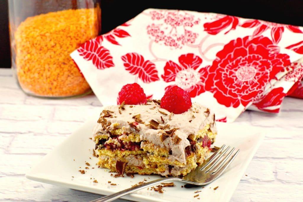 No Bake Dessert Lasagna - lentil, chocolate and raspberry - foodmeanderings.com
