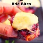 Leftover Turkey & Brie Appetizer| Crostini - foodmeanderings.com