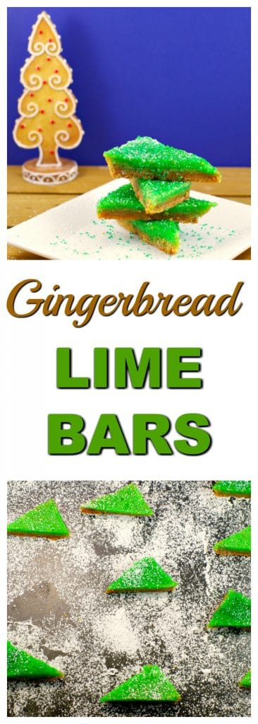 Gingerbread lime bars | #gingerbread #lime - Foodmeanderings.com