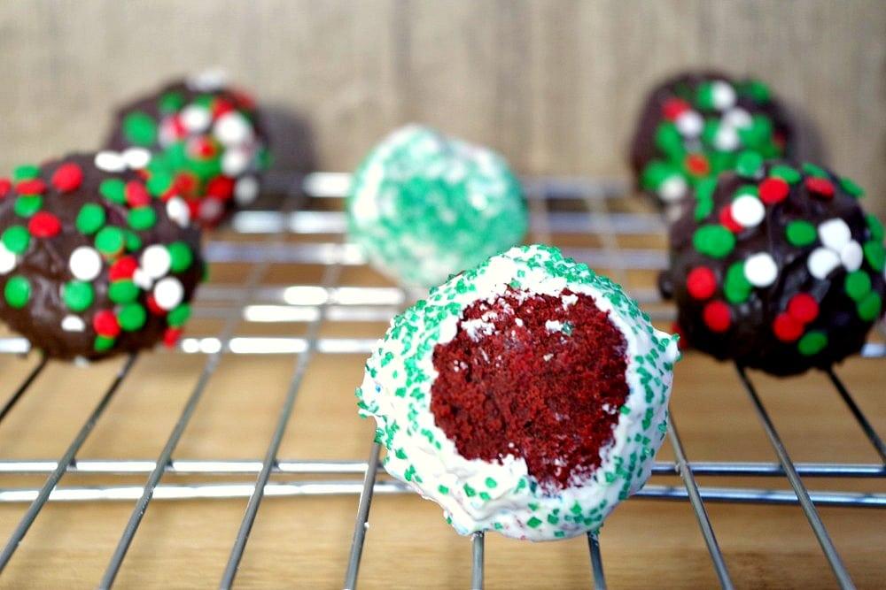 Red Velvet Brownie Balls