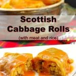 Scottish Cabbage Rolls | with meat and rice - #gluten-free #cabbage #ukrainian