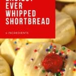 Whipped Shortbread cookies piled up