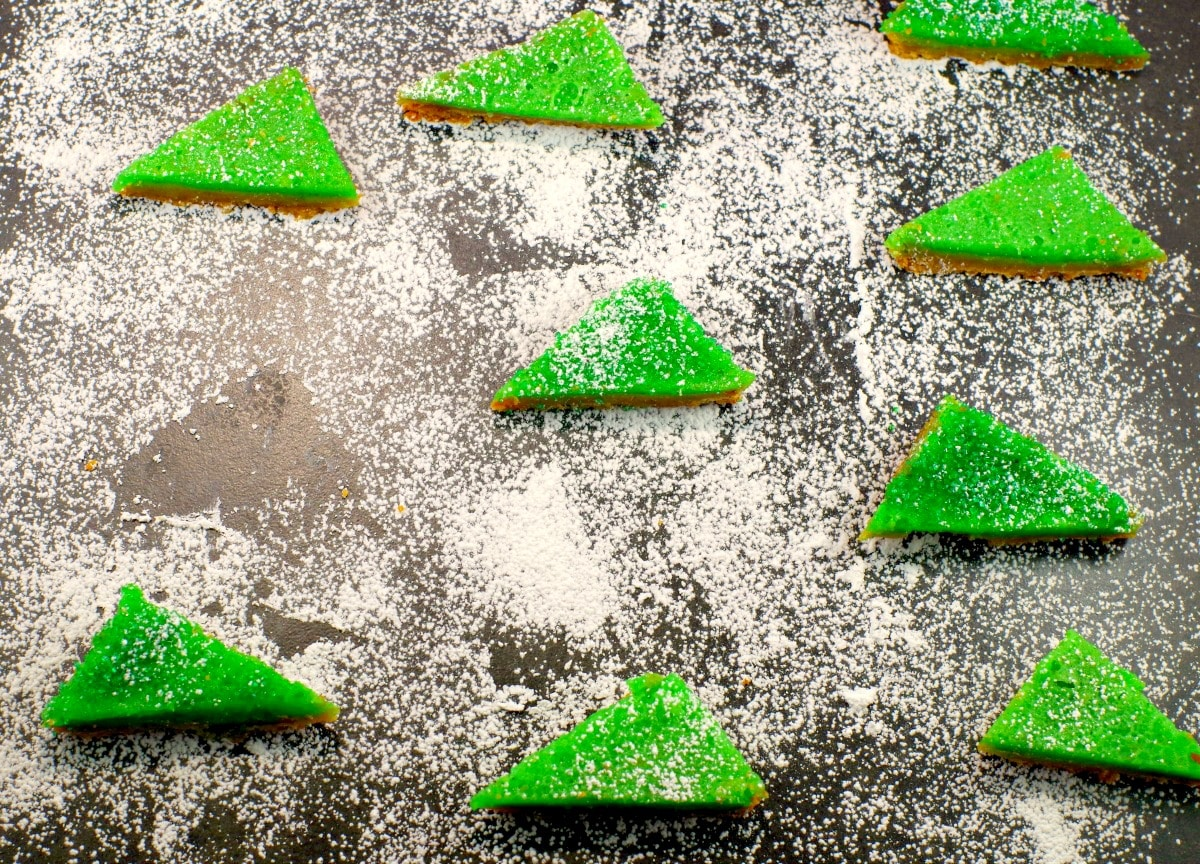 Gingerbread Lime bars | Foodmeanderings.com