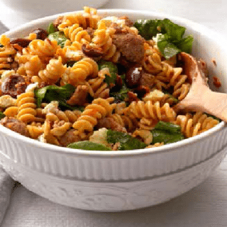 GREEK PASTA TOSS- Eat smart & healthy in 30 minutes!