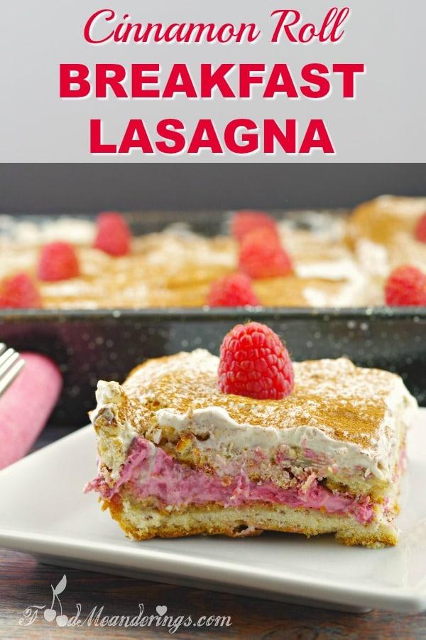 Breakfast Lasagna Recipe -#cinnamonroll #breakfast #lasagna #potluck
