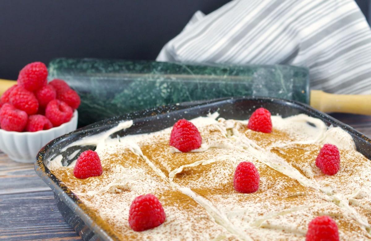 Cinnamon Roll Breakfast Lasagna - breakfast potluck