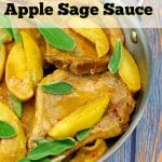 Pork Chops with Apple Sage Sauce |savory apple dish- foodmeanderings.com