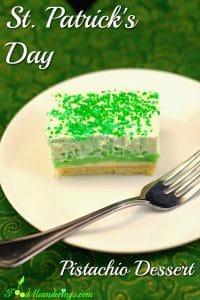 St. Patrick's Day Pistachio Dessert | green dessert - Foodmeanderings.com