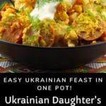 Ukrainian slow cooker casserole in a black bowl