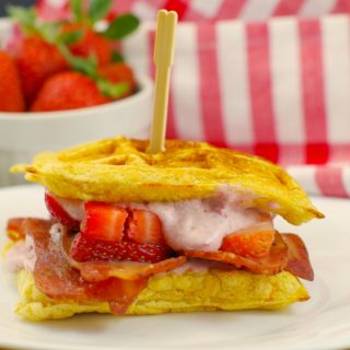 Award-Winning Strawberry Sunrise Waffle and Chicken Sandwich: A healthier version
