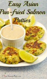 Easy Asian Pan-fried Salmon Patties - foodmeanderings.com