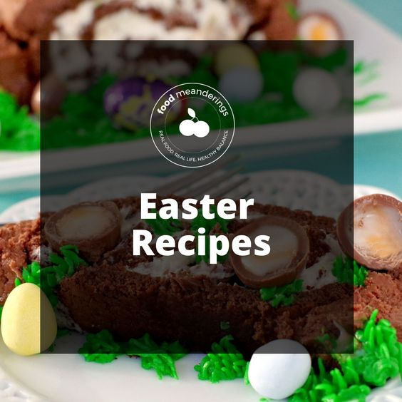 Easter recipes Pinterest board cover
