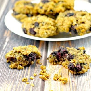 Saskatoon Berry Cookies - foodmeanderings.com