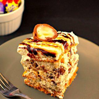 No Bake Easter Cream Egg IceBox Cake-an easy Easter Dessert