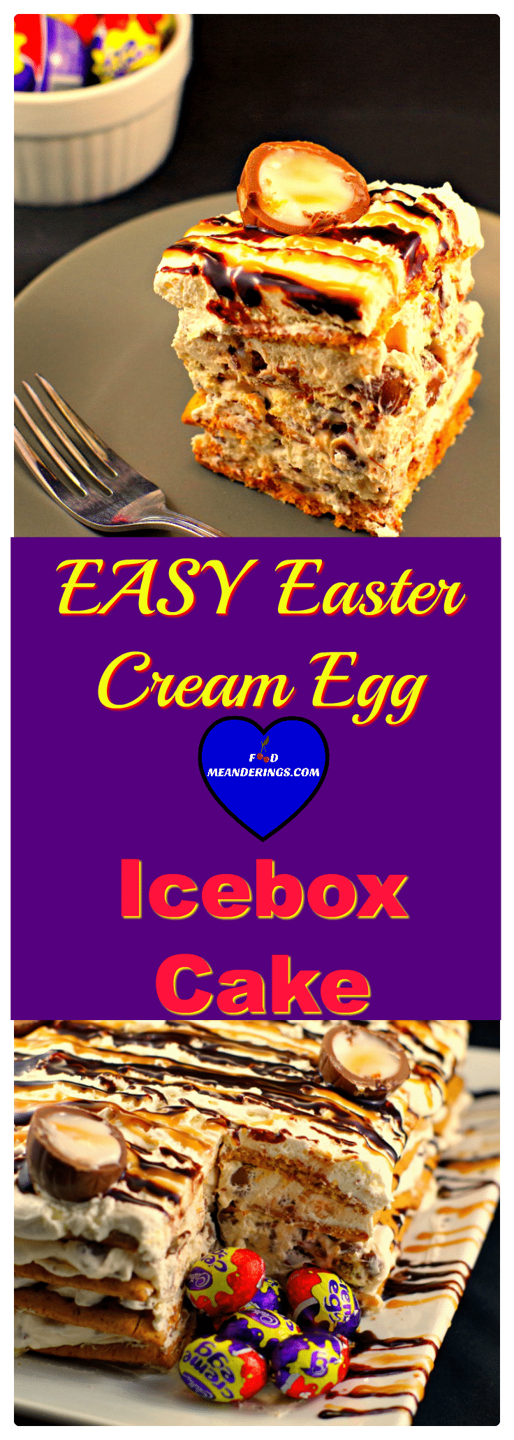 Easy Easter Cream Egg Icebox cake dessert