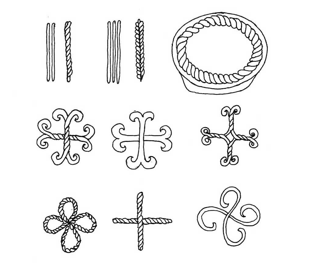 drawing of decorations for paska bread