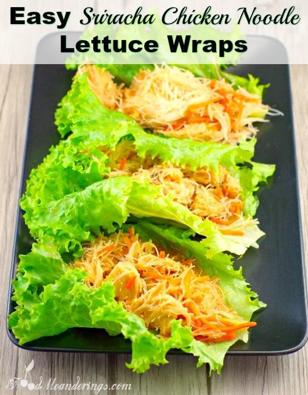 Easy Sriracha Chicken Noodle Lettuce Wraps | #chicken #lettuce #wrap