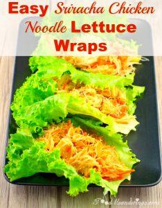 Healthy & Easy Sriracha Noodle Lettuce Wraps - foodmeanderings.com
