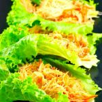Easy Sriracha Chicken Lettuce Wraps | #chickenbreast recipe, #lettucewraps - Foodmeanderings.com