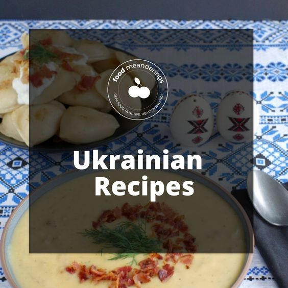 Ukrainian Recipes Pinterest Board Cover