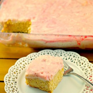 Slightly Skinny Strawberry Blondie Bars