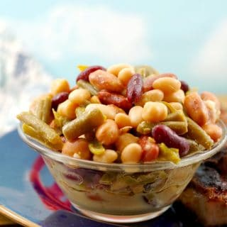 Easy Bean Salad (vegan)- in 5 minutes