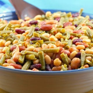 Easy Bean Salad (Vegan) #bean salad #vegan | foodmeanderings.com