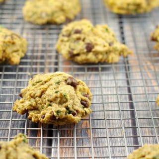 Award Winning Healthy Tropical Green Chocolate Chip Cookies #chocolate chip cookies #healthy | foodmeanderings.com
