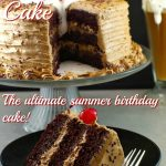 Root beer float cake - the ultimate summer birthday cake - foodmeanderings.com