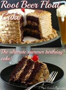 Root beer float cake - the ultimate summer birthday cake - foodmeanderings.com