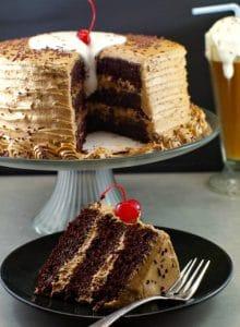 Root Beer Float Cake Recipe | Happy Birthday Cake - Foodmeanderings.com