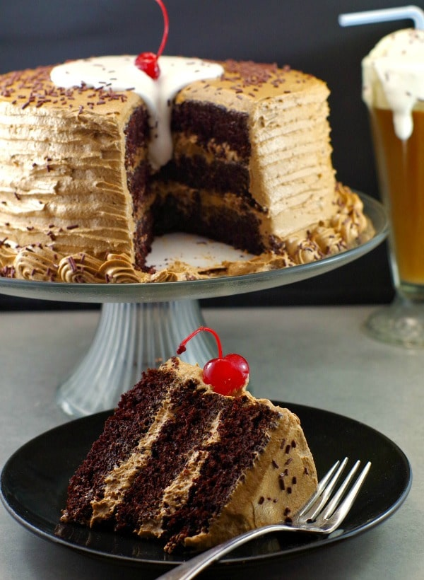 Root Beer Float Cake Recipe | Happy Birthday Cake - Foodmeanderings.com