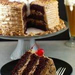 root beer, root beer float cake, chocolate cake, happy birthday cake