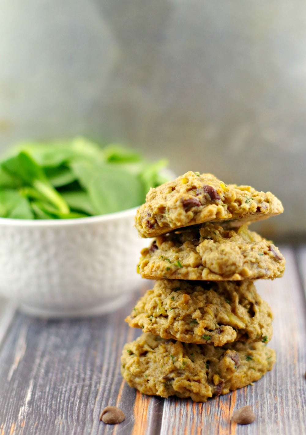 Award-Winning Tropical Green Chocolate Chip cookies #healthy chocolate chip cookie #spinach | foodmeanderings.com