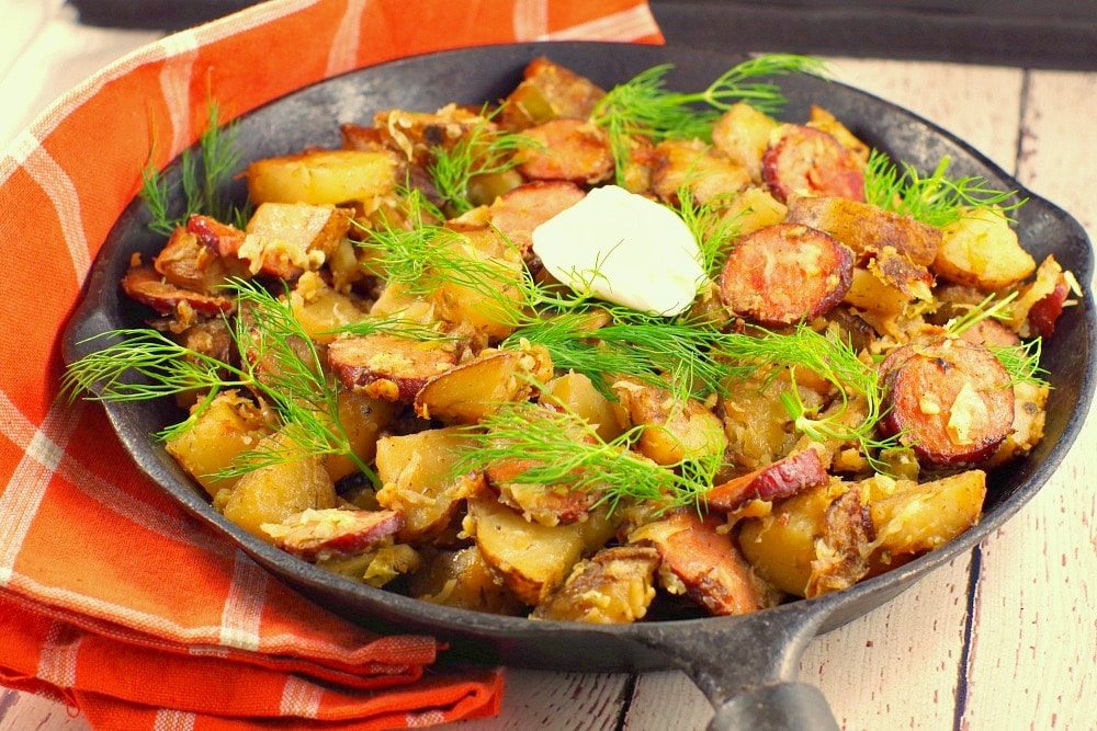 Ukrainian breakfast hash breakfast potluck idea food meanderings this easy ukrainian recipe uses home made hash browns that can be made with fresh or forumfinder Images