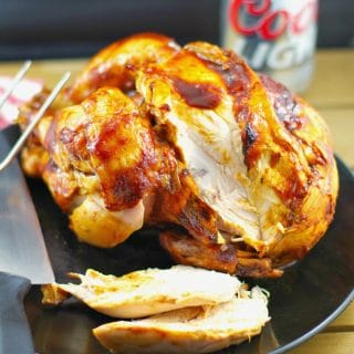 Healthy Barbecue Beer Can Chicken with Molasses & Beer BBQ sauce