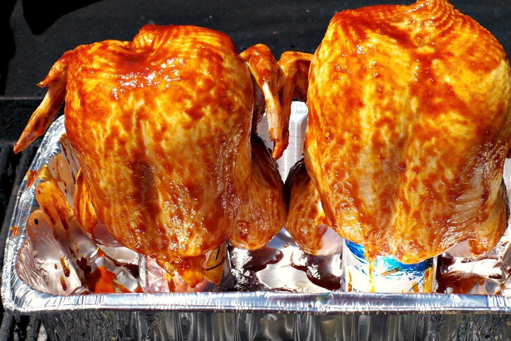 BBQ Beer Can Chicken | beer can chicken - Foodmeanderings.com
