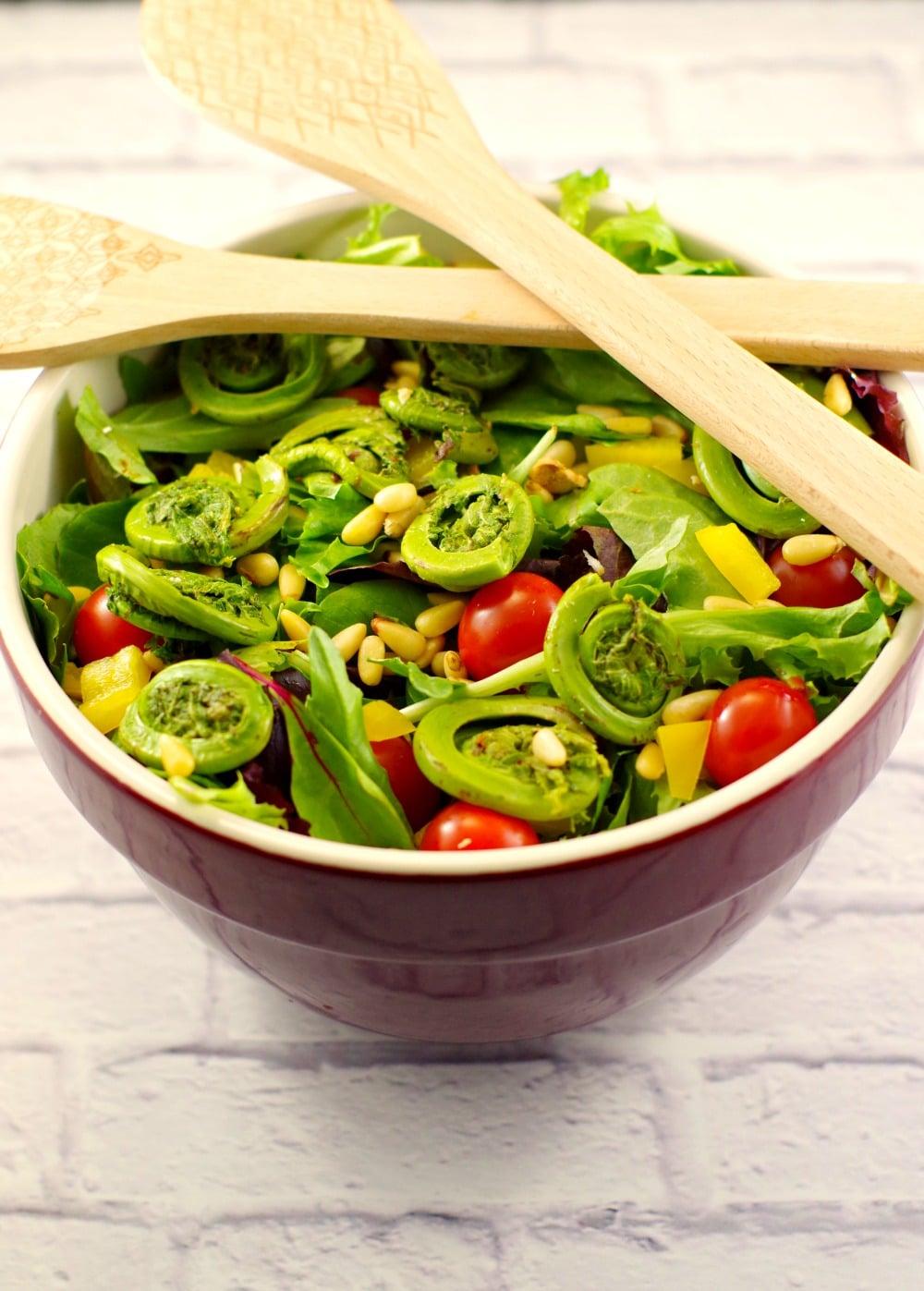 Spring salad with Blackberry Vinaigrette #vegan   foodmeanderings.com