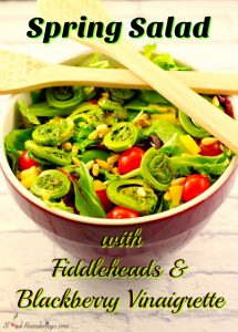 Spring Salad with Fiddleheads & Blackberry Vinaigrette - Foodmeanderings.com