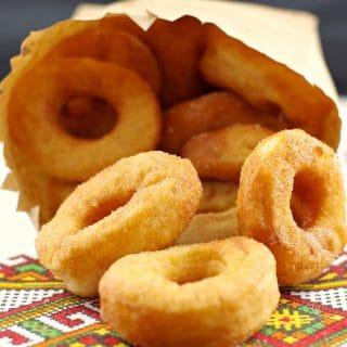 Pampushky- Ukrainian Doughnuts | mini- Foodmeanderings.com