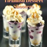 Saskatoon Berry Tiramisu Dessert Shooter | June Berry