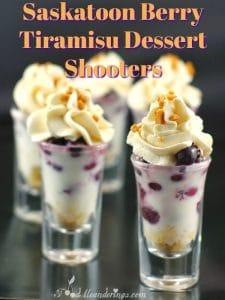 Saskatoon Berry Tiramisu Dessert Shooter | June Berry