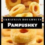 collage of 2 photos of Ukrainian doughnuts