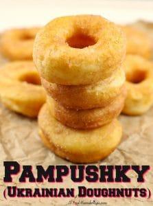 Ukrainian Doughnuts | Pampushky - Foodmeanderings.com