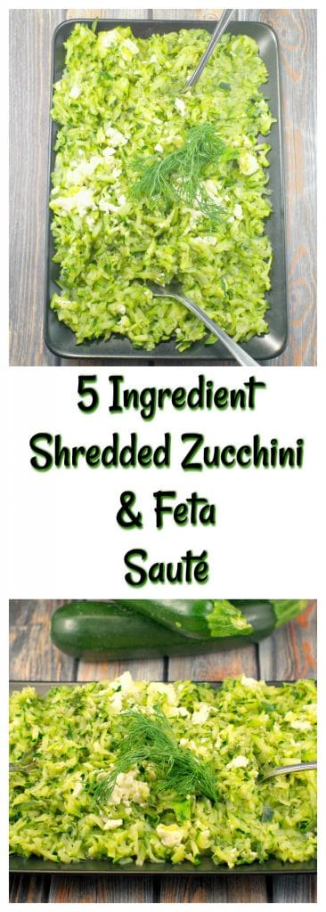 Shredded Zucchini & Feta Saute | healthy, side dish - Foodmeanderings.com