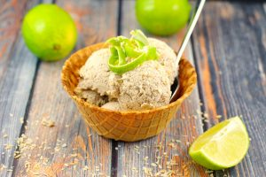 Coconut Lime Nice Cream | #vegan, #bananas - Foodmeanderings.com