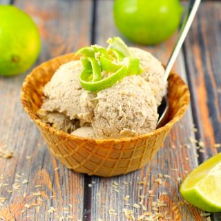 Coconut Lime Nice Cream | #vegan, #bananas - Foodmeanderings.com