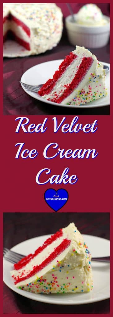 Red Velvet Ice Cream Cake | Cream Cheese icing - Foodmean
